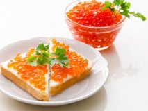 Poisoning with red caviar